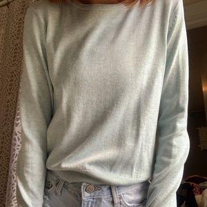 Teal light sweater